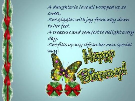 Nice Birthday Wishes For Daughter Greetings
