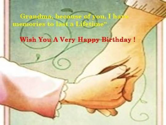 Nice Birthday Wishes For Grandmother Image