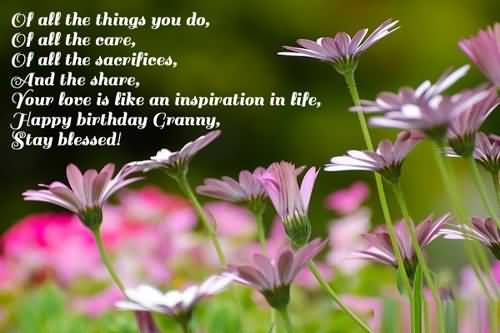 Nice Birthday Wishes For Grandmother Wallpaper