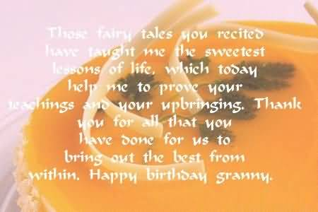 Nice Message Birthday Wishes For Grandmother Wallpaper