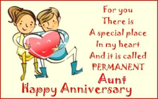 Nicer Message Anniversary Wishes For Aunt Graphic