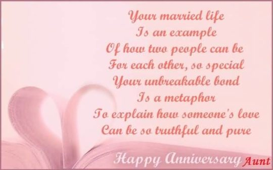 Perfect Message Anniversary Wishes For Aunt Wallpaper
