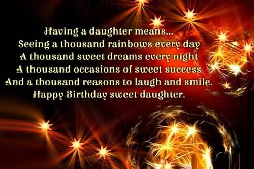 Perfect Message Birthday Wishes For Daughter Greetings