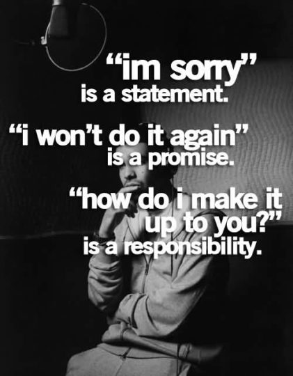 Superb Apology Quotes Is A Responsibility