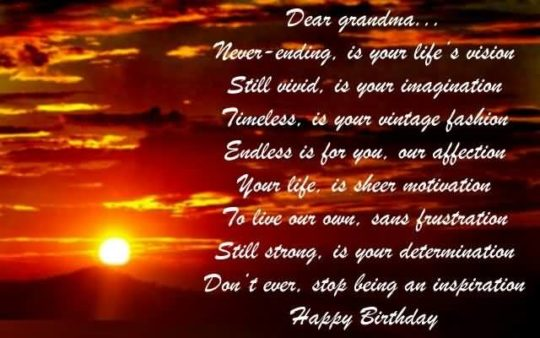 Superb Birthday Wishes For Grandmother Image