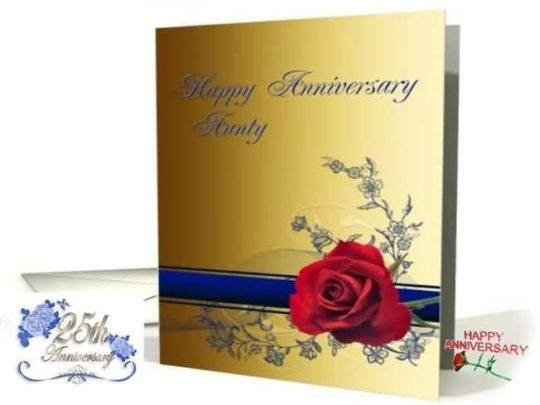 Superb E-Card Anniversary Wishes For Aunt