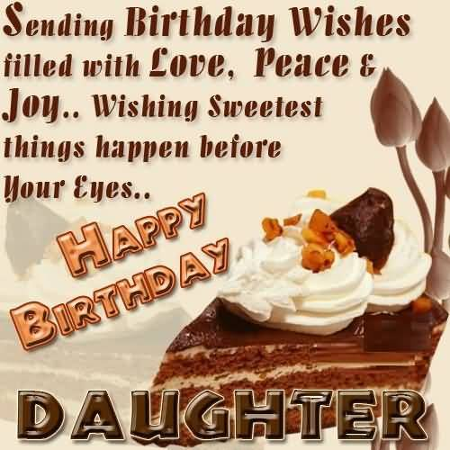 Sweet Birthday Wishes For Daughter Graphic