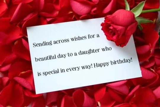Sweet Birthday Wishes For Daughter Wallpaper