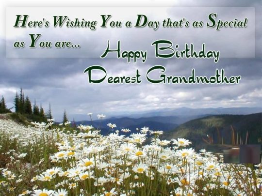 Sweet Birthday Wishes For Grandmother Greetings