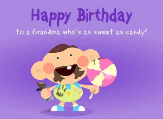Sweet Birthday Wishes For Grandmother Image