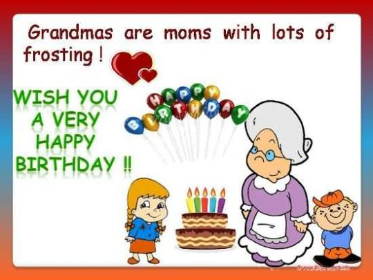 Sweet Birthday Wishes For Grandmother Picture