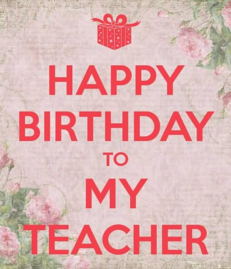 Sweet Birthday Wishes For Teacher Graphic
