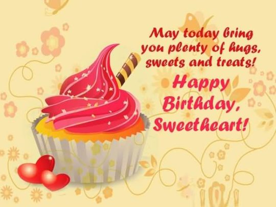 Sweet Cup Cake Birthday Wishes For Daughter Wallpaper