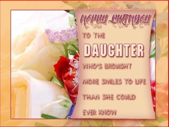 Terrific Birthday Wishes For Daughter Greetings