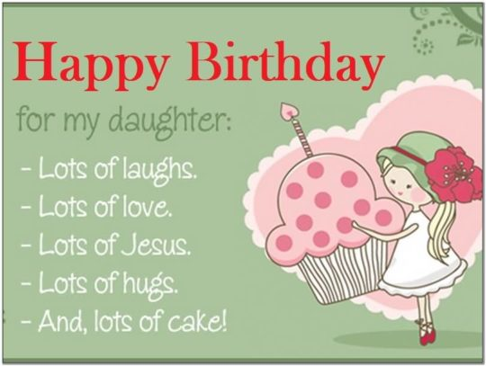 Traditional Birthday Wishes For Daughter Graphic