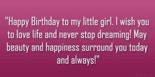 Unique Quote Birthday Wishes For Daughter Wallpaper