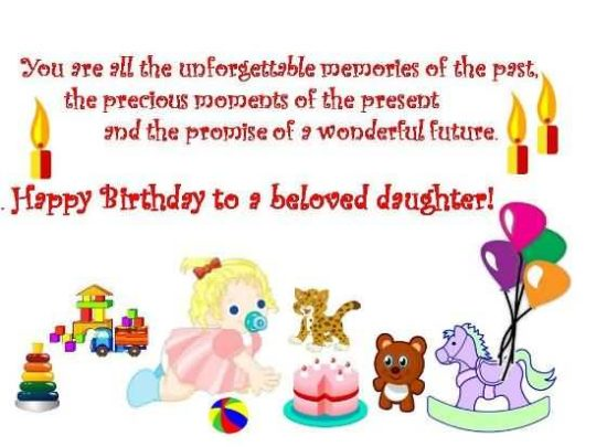 Wonderful Birthday Wishes For Daughter Wallpaper