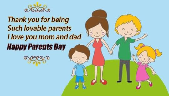 All Family With Love Enjoying Parents Day Wishes