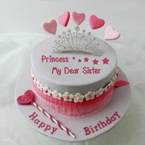Images Of Birthday Cakes For Little Sister : Amazing Birthday Wish Cake For Sister Nicewishes.com