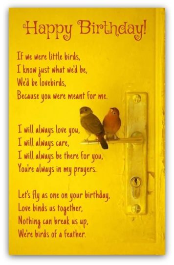 Beautiful Birds  Birthday Wish Rhyming Card