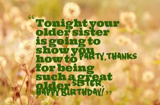 Beautiful Birthday Wish Message For Sister
