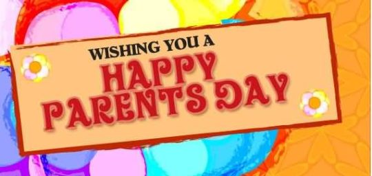 Beautiful Colorful Parents Day Wishes Nice Card