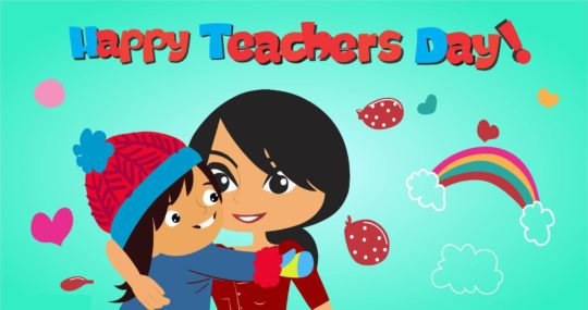 Best Teachers Day Hug With Wishes And Love