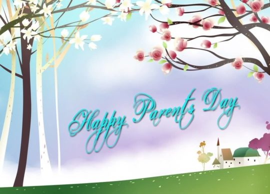 Colorful Parents Day Wishes Card For Mom And Dad