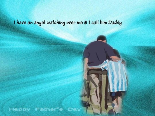 Fathers Day Wish Card With love Hug