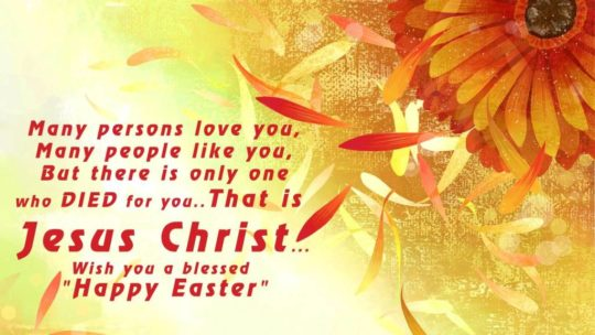 Happy Easter Wishing With Colorful Card