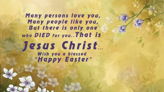 Jesus Christ Happy Easter Card With Best Wishing