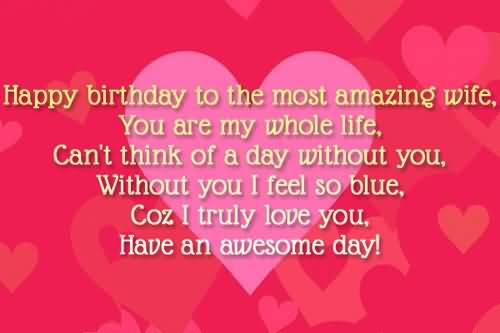Birthday wishes for wife page nicewishes