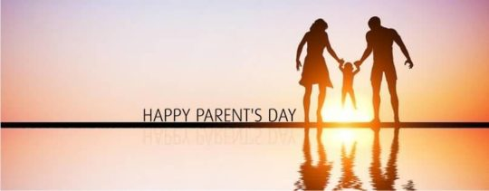 Parents Day Wishes On Bank Of Sea At Sunset Time