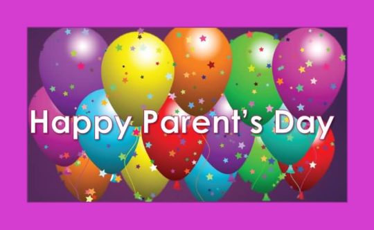 Parents Day Wishes With Colorful Balloons