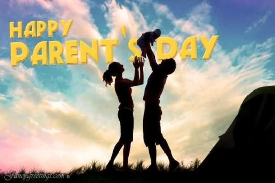 Parents Playing With Kid On Parents Day Wishes