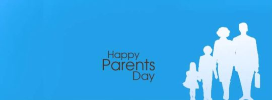 Simple Parents Day Wishes Card With Whole Family