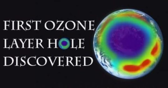 World Ozone Day Card Showing The  First Ozone Hole