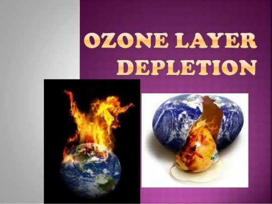 World Ozone Day Card Showing The Results Of Ozone Depletion