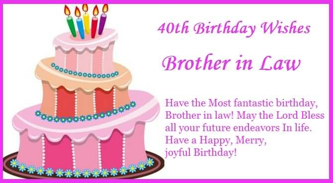 40th Birthdya Wishes Brother In Law Have The Most Fantastic Birthday Brother In Law