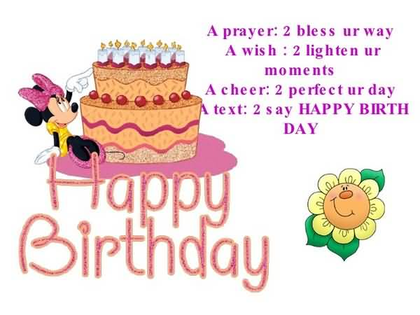 A Prayer To Bless You're way A Wish To lighten Happy Birthday