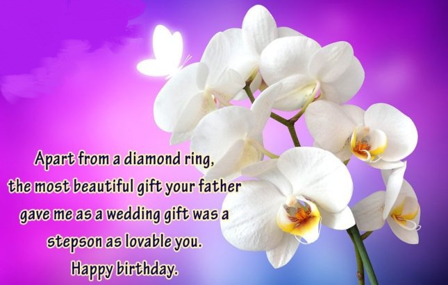 Apart From A Diamond Ring The Most Beautiful Gift Your Father Gave Me As A Wedding Gift Was A Stepson As Lovable You Happy Birthday