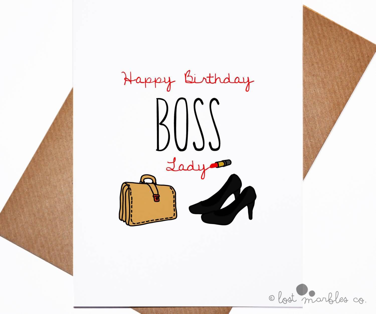 Awesome E Card Happy Birthday Boss Lady
