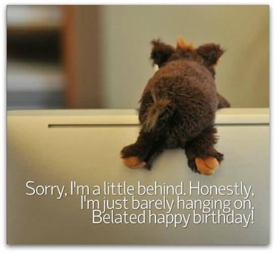 Belated Birthday Wishes Sorry I Am A Littel Behind Honesty I Am Just Barely Hanging On Belated Happy Birthday