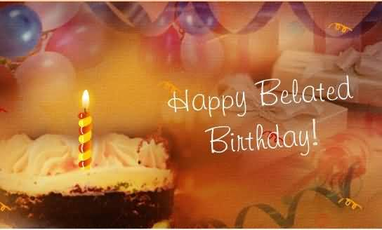 Belated Happy Birthday Wishes With Candle Nice Wishes