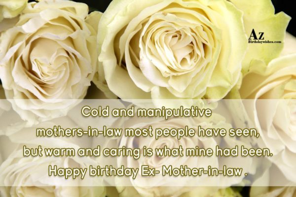 Cold And Manipulative Mother In Law Most People Have Seen Happy Birthday Ex Mother In Law