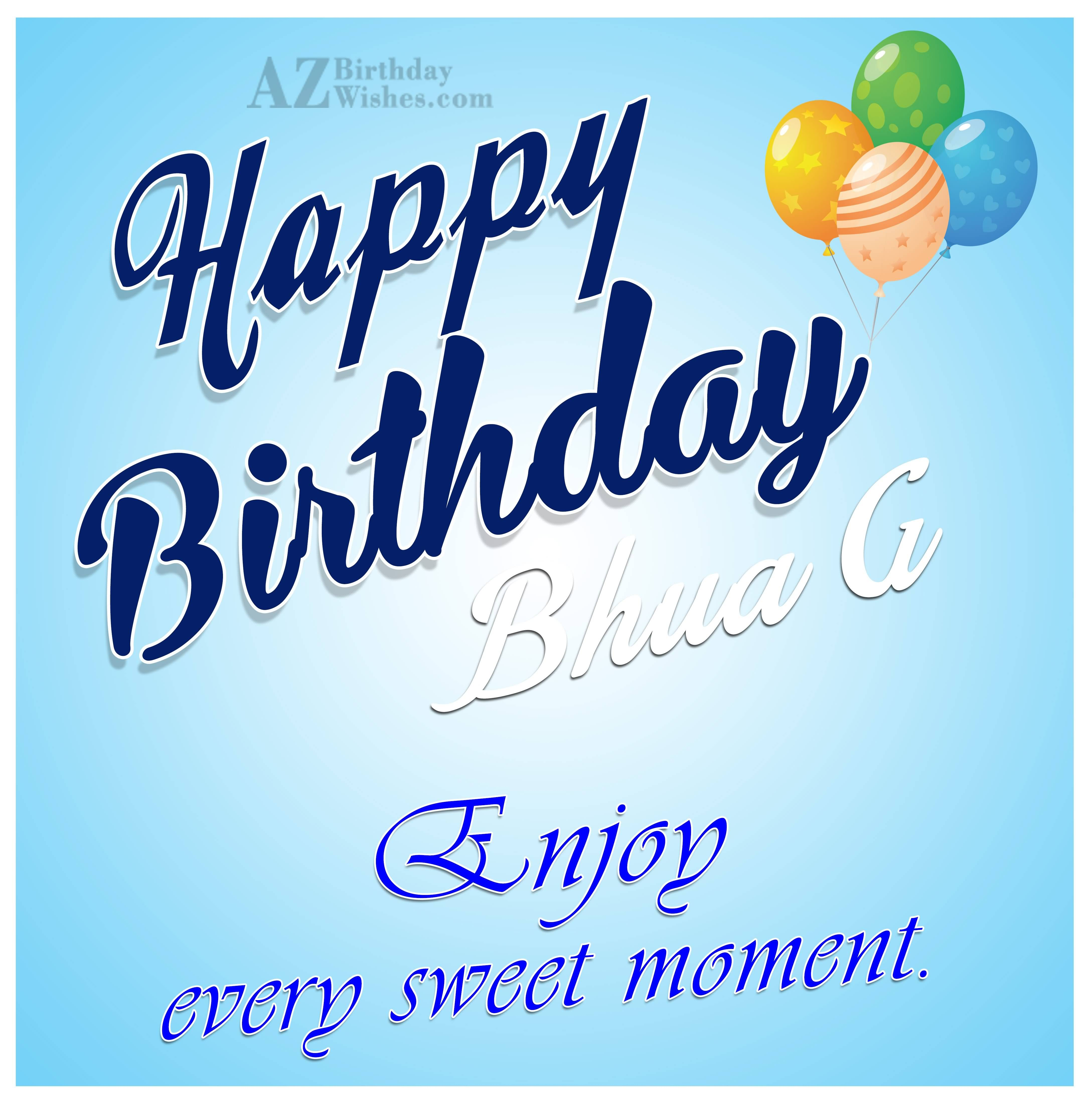 Cute Happy Birthday Wishes To Bhua G Enjoy Every Sweet Moment