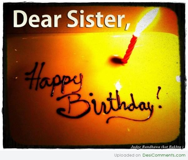 Dear Sister Happy Birthday