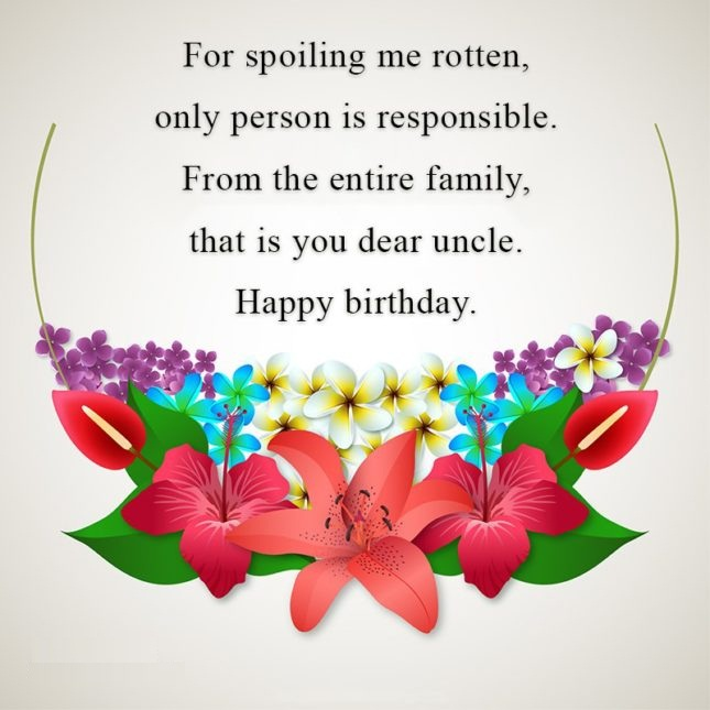 For Spoiling Me Rotten Only Person Is Responsible From The Entire Family Happy Birthday