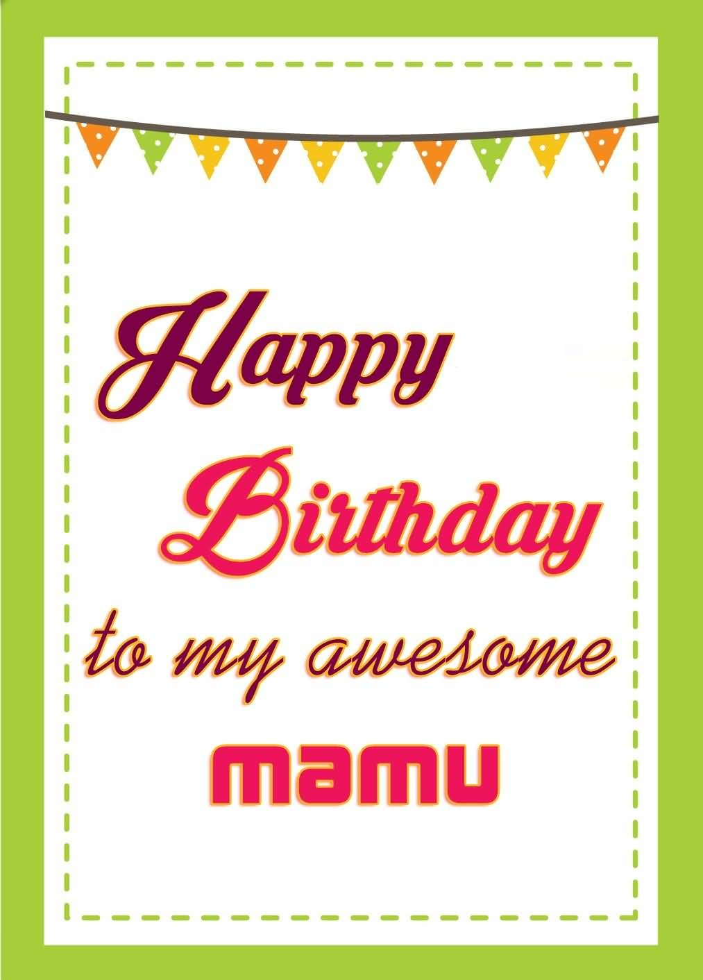 Greeting card for mamu happy birthday to my awesome mamu nicewishes greeting card for mamu happy birthday to my awesome mamu kristyandbryce Image collections