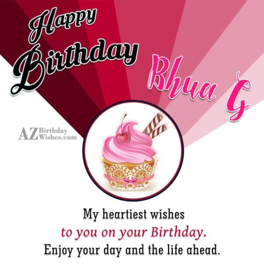 Happy Birthday Bhua G My Heartiest Wishes To Your Birthday Enjoy Your Day And The Life A Head